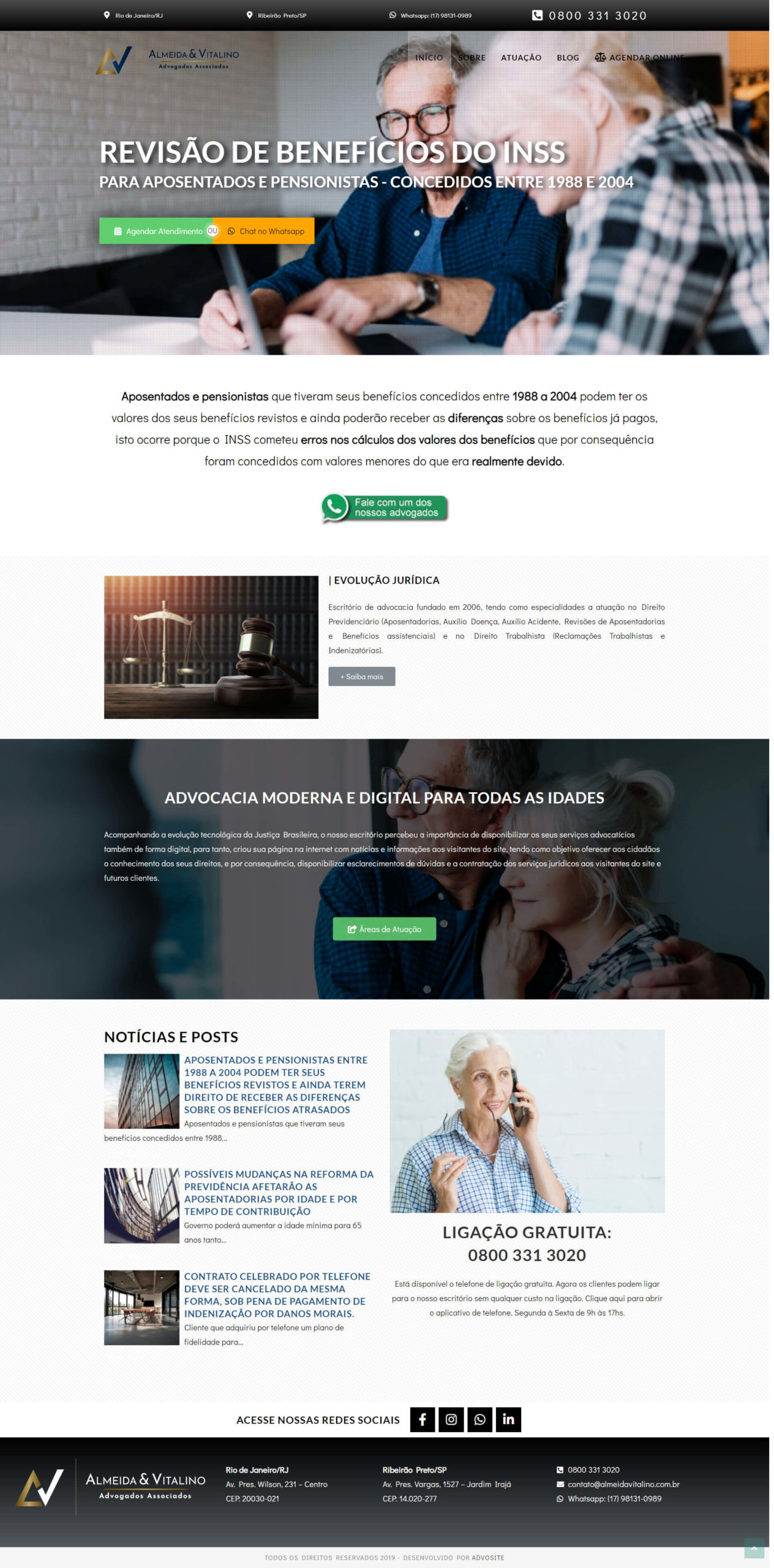 Modelo 4 de site para advogado