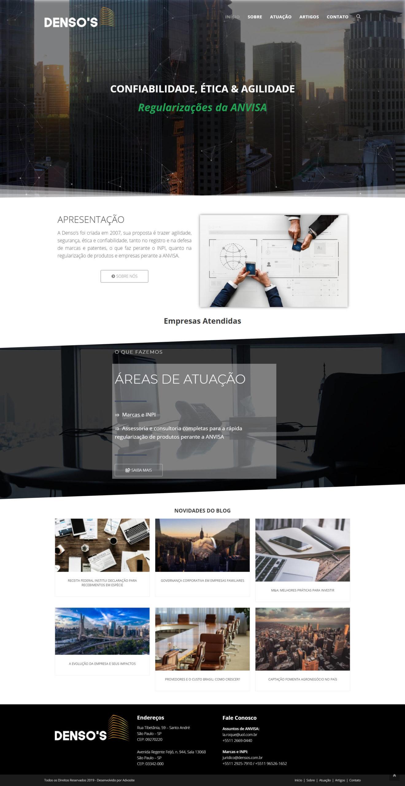Modelo 2 de sites para advogados